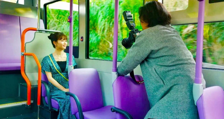 大城優紀、沖縄女子旅の撮影風景