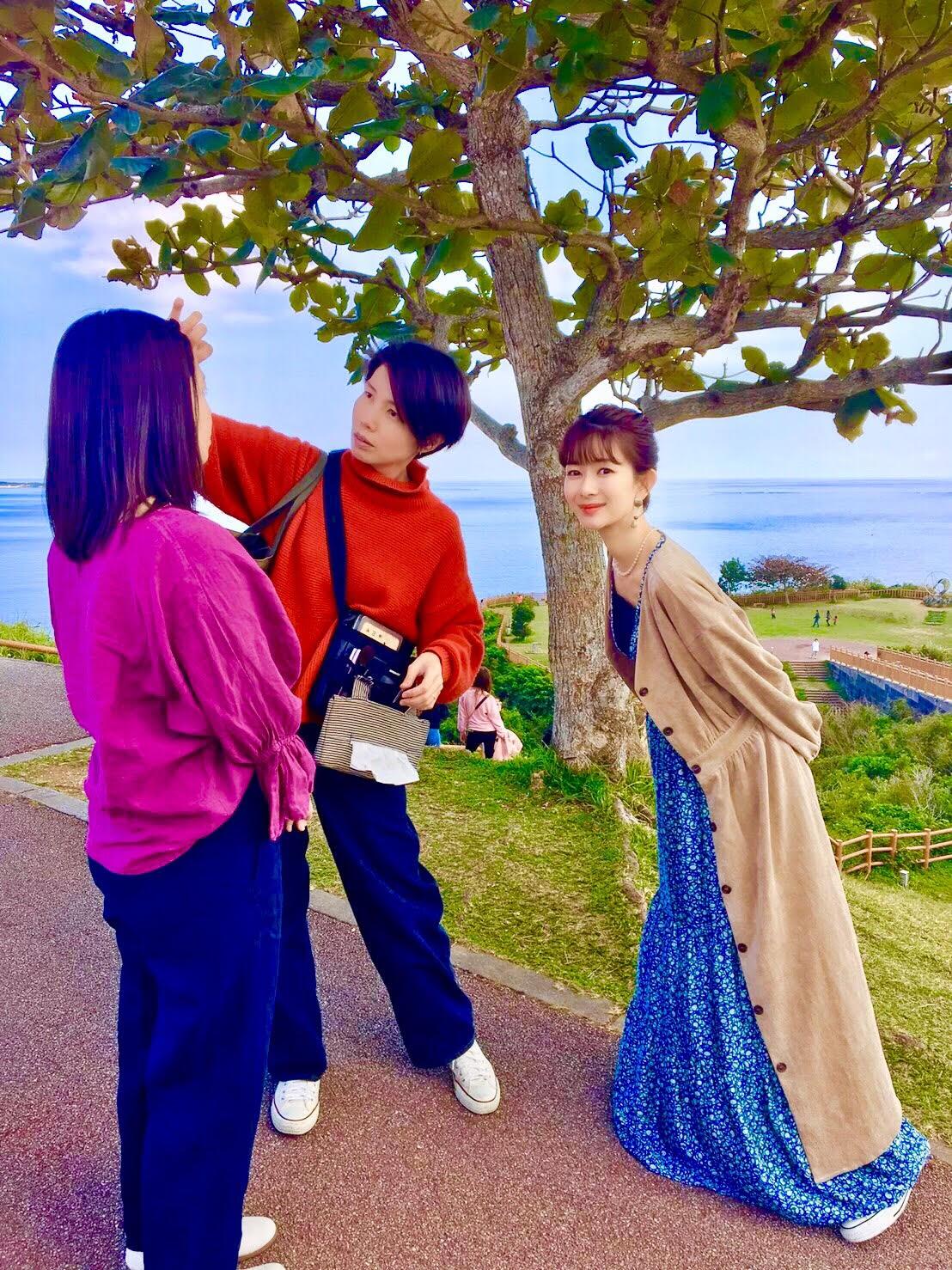 大城優紀、知念岬公園にて撮影